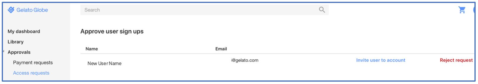 Managing User Access Requests – Gelato Globe